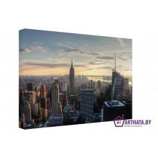 Картина на холсте по фото Модульные картины Печать портретов на холсте Панорама Манхэттена