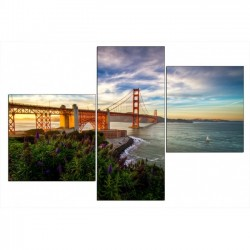 Мост через реку - Модульная картины, Репродукции, Декоративные панно, Декор стен