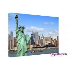 Картина на холсте по фото Модульные картины Печать портретов на холсте Город свободы