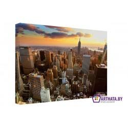 Небо большого города - Модульная картины, Репродукции, Декоративные панно, Декор стен