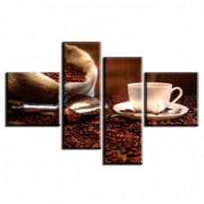 Картина на холсте по фото Модульные картины Печать портретов на холсте Кофейные зерна