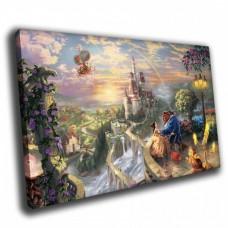 Картина на холсте по фото Модульные картины Печать портретов на холсте Замок вдали