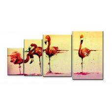 Картина на холсте по фото Модульные картины Печать портретов на холсте Фламинго