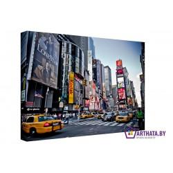 Таймс-сквер - Модульная картины, Репродукции, Декоративные панно, Декор стен