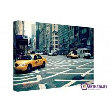 Картина на холсте по фото Модульные картины Печать портретов на холсте Нью-Йоркские такси