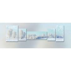 Картина на холсте по фото Модульные картины Печать портретов на холсте Зимний лес