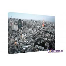 Картина на холсте по фото Модульные картины Печать портретов на холсте Сердце города