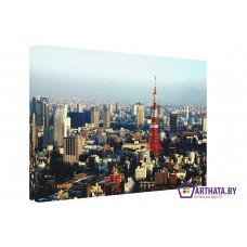 Картина на холсте по фото Модульные картины Печать портретов на холсте Токийская телебашня