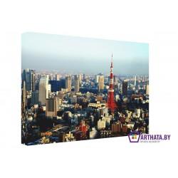 Токийская телебашня - Модульная картины, Репродукции, Декоративные панно, Декор стен