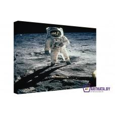Картина на холсте по фото Модульные картины Печать портретов на холсте Человек на Луне