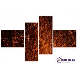 Яркие огни - Модульная картины, Репродукции, Декоративные панно, Декор стен
