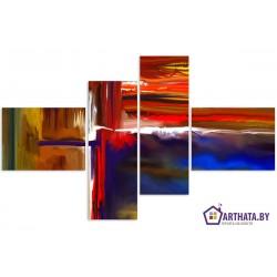 Цветные волны - Модульная картины, Репродукции, Декоративные панно, Декор стен