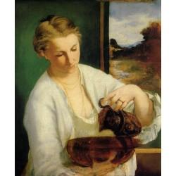 Женщина с кувшином  - Модульная картины, Репродукции, Декоративные панно, Декор стен