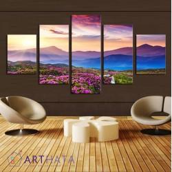 Цветы в горах - Модульная картины, Репродукции, Декоративные панно, Декор стен