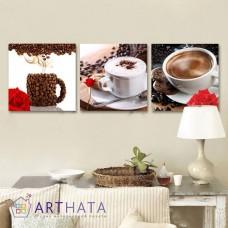 Картина на холсте по фото Модульные картины Печать портретов на холсте Утренний кофе