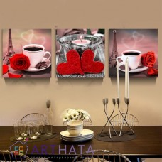 Картина на холсте по фото Модульные картины Печать портретов на холсте Чашка кофе