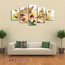 Картина на холсте по фото Модульные картины Печать портретов на холсте Бабочки