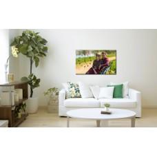 Картина на холсте по фото Модульные картины Печать портретов на холсте Картина-часы