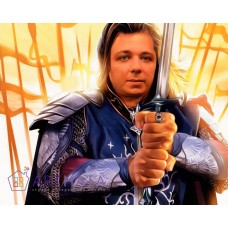 Картина на холсте по фото Модульные картины Печать портретов на холсте Рыцарь с мечом