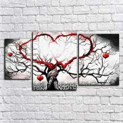 Модульная картина - Ветви - Модульная картины, Репродукции, Декоративные панно, Декор стен
