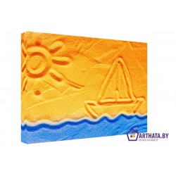 Пляжное настроение  - Модульная картины, Репродукции, Декоративные панно, Декор стен