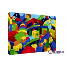 Картина на холсте по фото Модульные картины Печать портретов на холсте Кубико - кубизм