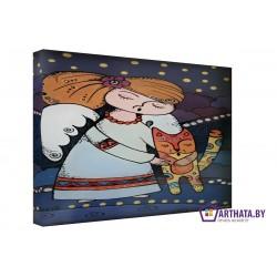 Спи котенок - Модульная картины, Репродукции, Декоративные панно, Декор стен