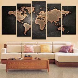 Карта мира - Картина - Модульная картины, Репродукции, Декоративные панно, Декор стен