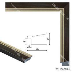 192075 Багет пластиковый 2615N-280-K - Модульная картины, Репродукции, Декоративные панно, Декор стен