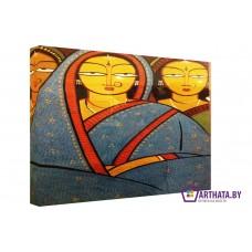 Картина на холсте по фото Модульные картины Печать портретов на холсте Женщины Индии