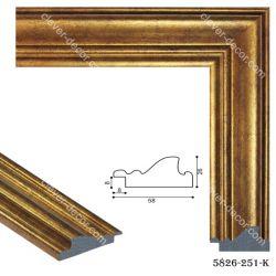 195018 Багет пластиковый 5826-251-NEW-K - Модульная картины, Репродукции, Декоративные панно, Декор стен