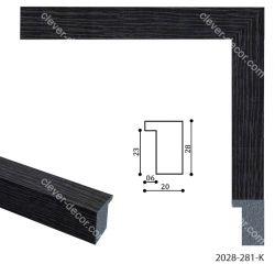 192097 Багет пластиковый 2028-281-K - Модульная картины, Репродукции, Декоративные панно, Декор стен