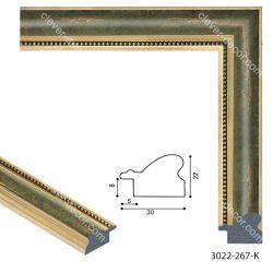 193033 Багет пластиковый 3022-267-K - Модульная картины, Репродукции, Декоративные панно, Декор стен