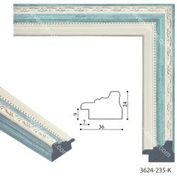 193075 Багет пластиковый 3624-235-K-S - Модульная картины, Репродукции, Декоративные панно, Декор стен