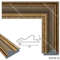198004 Багет пластиковый 8731-19 - Модульная картины, Репродукции, Декоративные панно, Декор стен