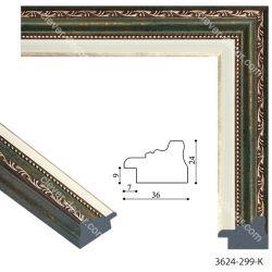 193080 Багет пластиковый 3624-299-K - Модульная картины, Репродукции, Декоративные панно, Декор стен