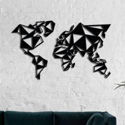 """Панно """"Геометрическая карта"""" - Модульная картины, Репродукции, Декоративные панно, Декор стен"""