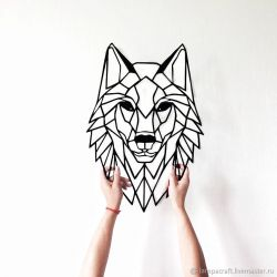 """Панно """"Волк"""" - Модульная картины, Репродукции, Декоративные панно, Декор стен"""