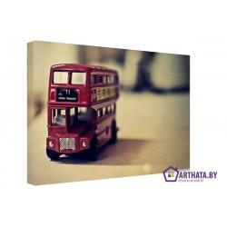 Английский автобус - Модульная картины, Репродукции, Декоративные панно, Декор стен