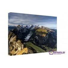 Картина на холсте по фото Модульные картины Печать портретов на холсте Горный переход