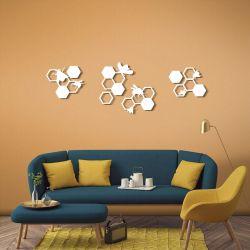 """Панно """"Соты и пчелы"""" - Модульная картины, Репродукции, Декоративные панно, Декор стен"""