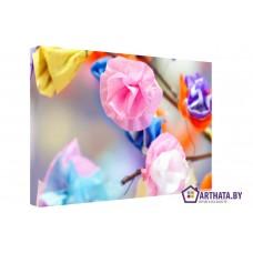 Картина на холсте по фото Модульные картины Печать портретов на холсте Цветы радуги