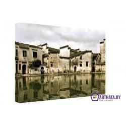 Городское зеркало  - Модульная картины, Репродукции, Декоративные панно, Декор стен