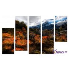 Картина на холсте по фото Модульные картины Печать портретов на холсте Красные листья