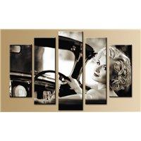 Портреты картины репродукции на заказ - Модульная картина на стекле - 5m-007