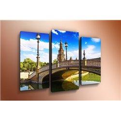 Модульная картина на стекле - m-000112 - Модульная картины, Репродукции, Декоративные панно, Декор стен