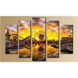 Модульная картина на стекле - 5m-011 - Модульная картины, Репродукции, Декоративные панно, Декор стен