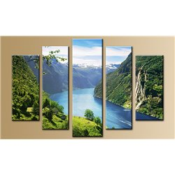 Модульная картина на стекле - 5m-027 - Модульная картины, Репродукции, Декоративные панно, Декор стен