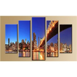 Модульная картина на стекле - 5m-028 - Модульная картины, Репродукции, Декоративные панно, Декор стен