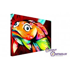 Картина на холсте по фото Модульные картины Печать портретов на холсте Золотая рыбка